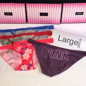 New ❤️Lot 4 Pink Victoria Secret panties